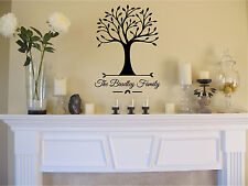 Personalized Family Name & Tree Wall Sticker Vinyl Decals Art Home Decor
