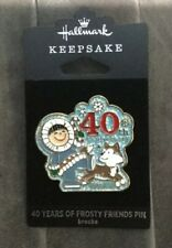 Hallmark Keepsake Collectible Pin Broche 40 Years Of Frosty Friends