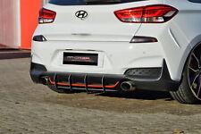 Cup Diffusor Ansatz für Hyundai i30N Performance AB Heck Stoßstange ABS NOAK
