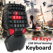 Professional Single Hand Gaming Keyboard 47 Keys B Wired Mini Gamer Keypad US