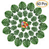 60 Pcs Tropical Leaves Party Decorations Artificial Flowers Birthday Party Decor