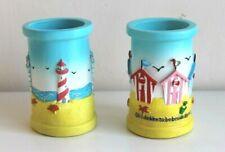 Ceramic Nautical Pen or Toothbrush Holder 2 Seaside Coastal Designs