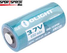 1pc Olight 16340 RCR123A 3.7V 650mAh Rechargeable Li-ion Battery for flashlight