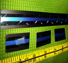 """Thin Blue Line Police """"Diamond Plate & Bold Blue"""" Decal 4-Pack SHIPS FREE!"""