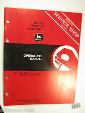 John Deere Double Windrow Attachment Operator'S Manual Om-E75047
