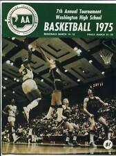 High School Basketball Program Washington Prep WIAA 1975 State AA HTF Cleveland