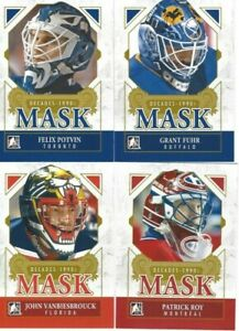 2013-14 IN THE GAME DECADES 1990'S PATRICK ROY  MASK MONTREAL