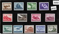 #5202    Complete MNH stamp set / 1944 Military set / Third Reich / WWII Germany