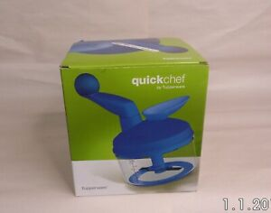 NIB Quick Chef By Tupperware With Manual NEW 1260 BLUE