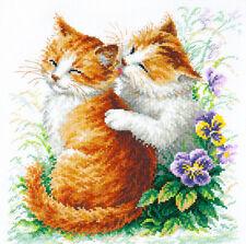 Cross Stitch Kit Gentle care (cat)