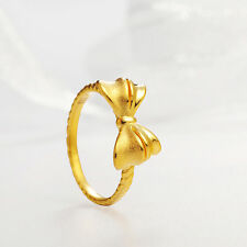 Authentic 24k Yellow Gold Bow Ring -Ring size: 7.5