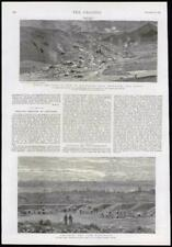 1889 Antique Print - TURKEY ERZURUM ARMENIA ERUPTION MUD SURREY BISLEY CAMP(129)