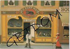 """CP Pub Réclame """" AU CHAT NOIR """" DURANTON - repro affiche"""