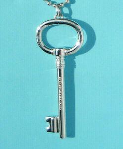 Tiffany & Co Sterling Silver Solid Heavy XLARGE 2.5 Inch Oval Key Charm