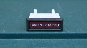 GENUINE FORD COUGAR / MUSTANG N.O.S. FASTEN SEAT BELT LIGHT ~ UNUSED ~ 1970's
