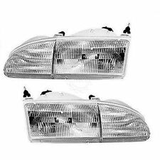 Headlights Headlamps Left & Right Pair Set NEW for 94-95 Ford Thunderbird