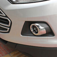 For Ford EcoSport 2013 2014 2015 2016 ABS Chrome Front Fog Lamp Hoods Cover Trim