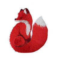 Orange Fox Iron Sew on Embroidered Appliques Patches Motifs Self Adhesive DIY