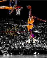 Kobe Bryant LA Lakers SLAM Dunk - Autographed 8x10 Photo (RP)