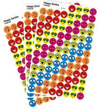 3 Sheets HAPPY SMILES Smiley Face Mini Reward 300 Scrapbook Stickers!!