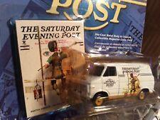 1975 Chevy van white Saturday's evening post  1:64 Johnny lightning