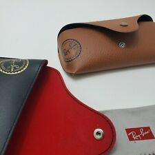 2 Ray Ban Eye Glasses/Sunglasses BLACK BROWN Cover /CASE /Pouch & Cleaning Cloth