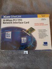 2com Etherlink 10 Mbps Pci Tpo Network Interface Card Ethernet Rj-45
