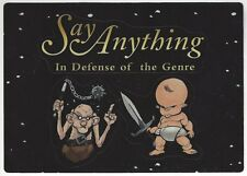 "Say Anything ""In Defense of the Genre"" Die-Cut Sticker Taking Back Sunday Eisley"