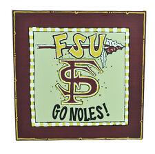 NCAA Florida State Seminoles Frame Decoration Fan FSU Canvas Go Noles 12 x 12