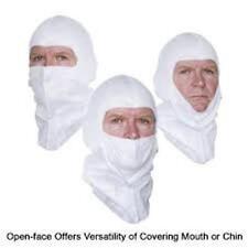 HEAD SOCK  SPRAY FOAM PAINT NO COTTON BREATHABLE WHITE HOOD SOCK  12pcs