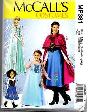 McCall's Costume Pattern Miss Small Med Lg XL MP381 Princess Cape Dress Riding