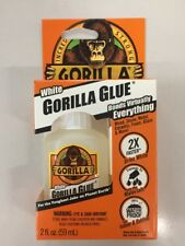 Gorilla Glue Dries White 2oz 59mL Waterproof Super Strong Stainable Paintable