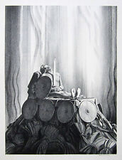 """ROCKWELL KENT Signed 1931 Original Lithograph """"Funeral Pyre"""" (from Beowulf)"""