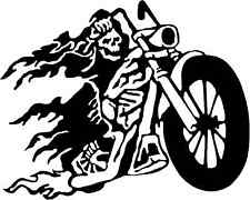 Death on a Motorbike Gloss Vinyl Car Sticker Auto Decal Scooter Graphic