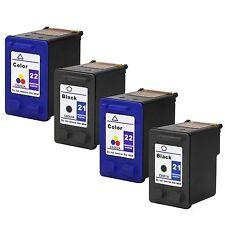 4PKs HP 21 22 Ink Cartridge For Officejet 4315 J3680 Deskjet F4140 F4135 F4185