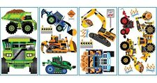CONSTRUCTION TRUCK 18 Wall Decals DUMP LOG TRACTOR SIGNS Room Decor Stickers SP