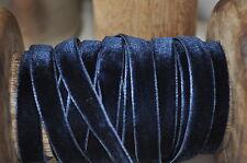 1M Style Vintage De luxe Bleu Marine Velours Bordure Ruban Artisanat De Couture