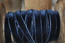 1M Vintage Style Luxury Navy Blue Velvet Ribbon Trim Sewing Craft Wedding Party