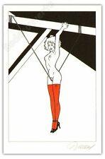 Ex-libris Renaud Jessica Blandy La corde ex signé 16x24