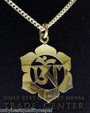 """Amulett elegant """"OM"""" Buddha Glückssymbol Lotus Halskette Talisman Pendant 04"""