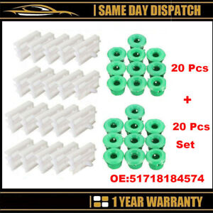 40X SIDE SILL SKIRT TRIM MOULDING CLIPS GROMMETS E36/46/90/91 3Series For BMW