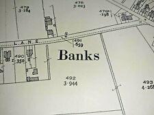 Old Antique Ordnance Map 1928 Lancashire LXXV.4 Banks Village ...