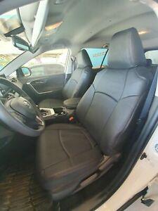 Clazzio PVC Leatherette Black Seat Covers for 2019-2021 Toyota Rav4 LE / XLE