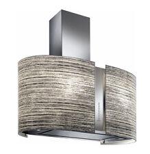FALMEC hotte maxi îlot MIRABILIA ELEKTRA LED 85cm verre trempé à motif recyclage