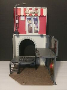 TEENAGE MUTANT NINJA TURTLES ANCHOVY ALLEY POP UP PIZZA PLAYSET USED 2012 TMNT