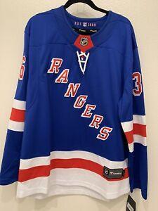NWT Mens Fanatics NHL New York Rangers MATS ZUCCARELLO Hockey Jersey size L