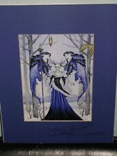 Amy Brown - Winter Guardian - Matted Mini - SIGNED