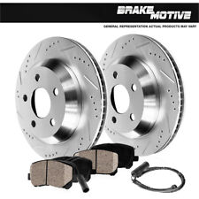 Rear Drill + Slot Brake Rotors & Ceramic Pads For Mercedes C250 C350 E350 E550
