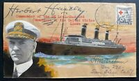 1931 SS Leviathan USA Brehm Hand Made Cachet Cover Herbert Harley Signed