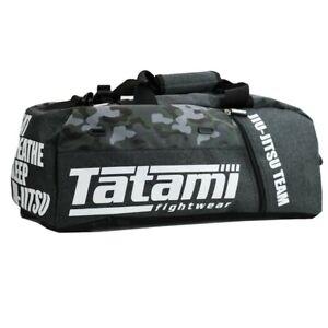 Tatami Grey Camo Transitional Gear Bag - BJJ Jiu-Jitsu  Training MMA Backpack